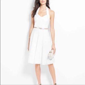 Ann Taylor Marilyn Monroe White halter dress